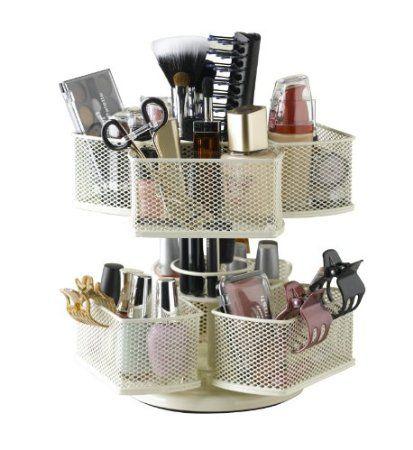 Amazon.com: Nifty Cosmetic Carousel Organizador, Cream: Ropa de cama y baño 31,28