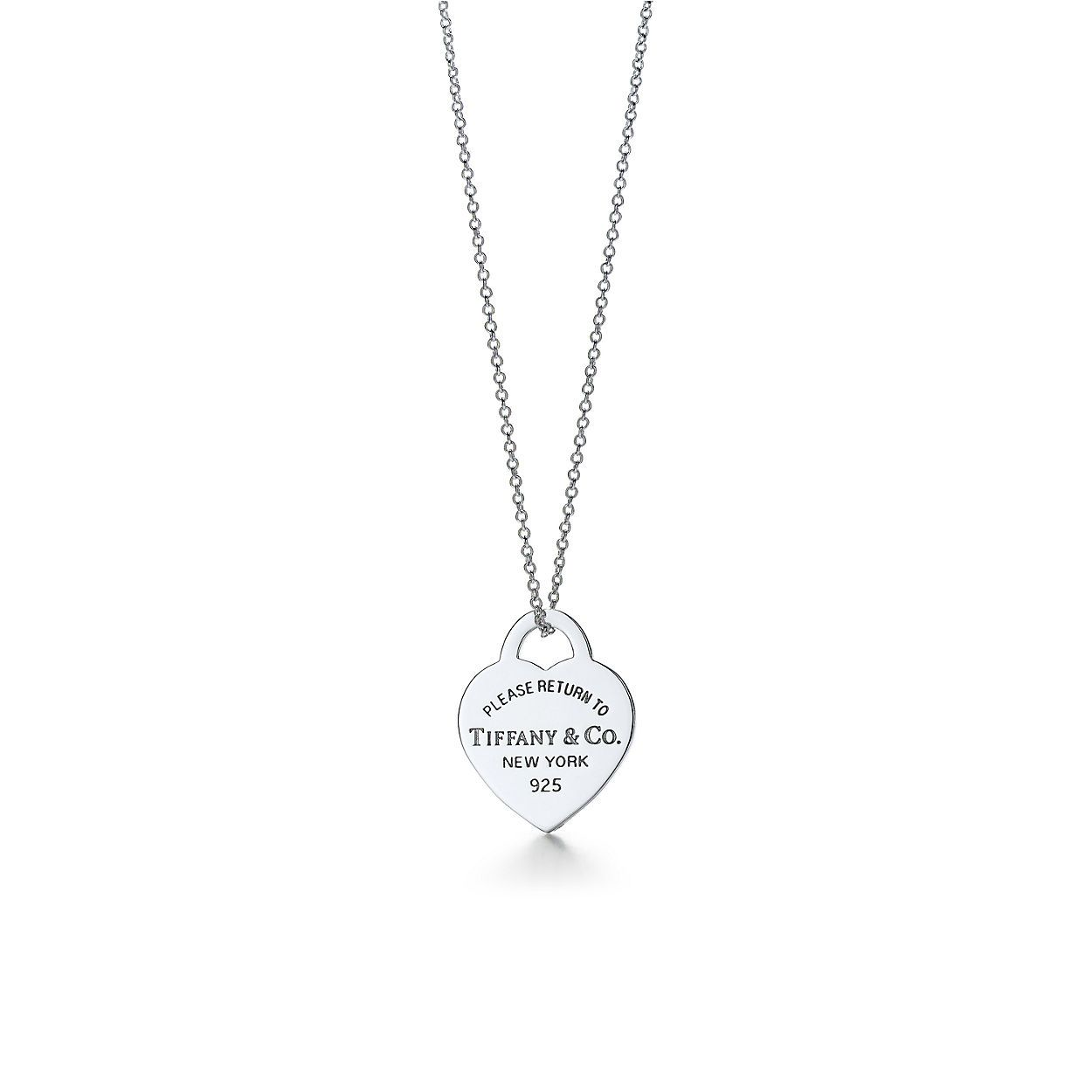 Return To Tiffany Heart Tag Pendant In Sterling Silver Tiffany Co Tiffany And Co Necklace Tiffany Necklace