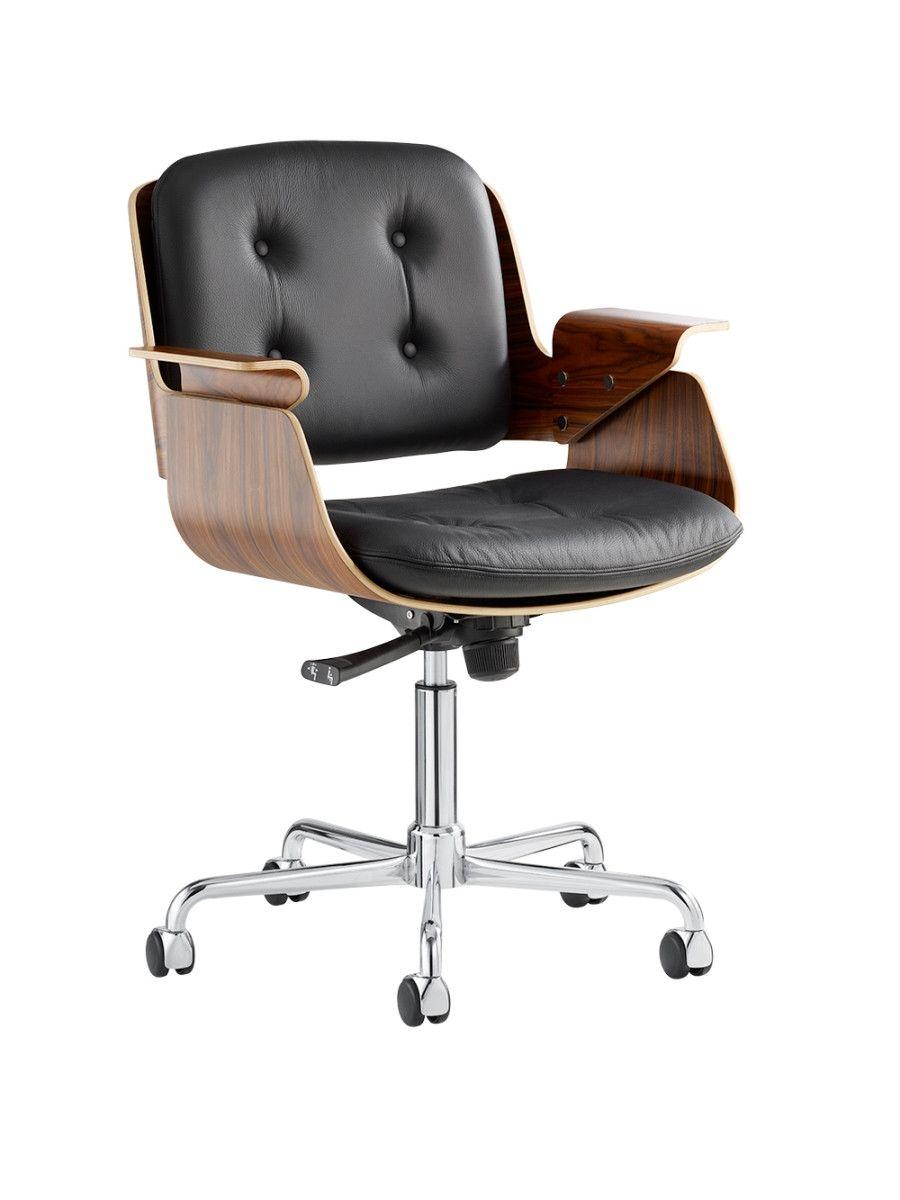 D49 Leder Schreibtischstuhl Von Tecta Schreibtischstuhl Stuhle Schreibtischsessel