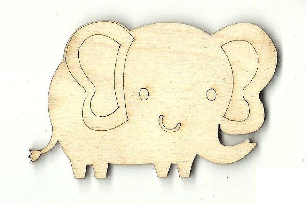 Pair of Elephant Laser Cut Shapes