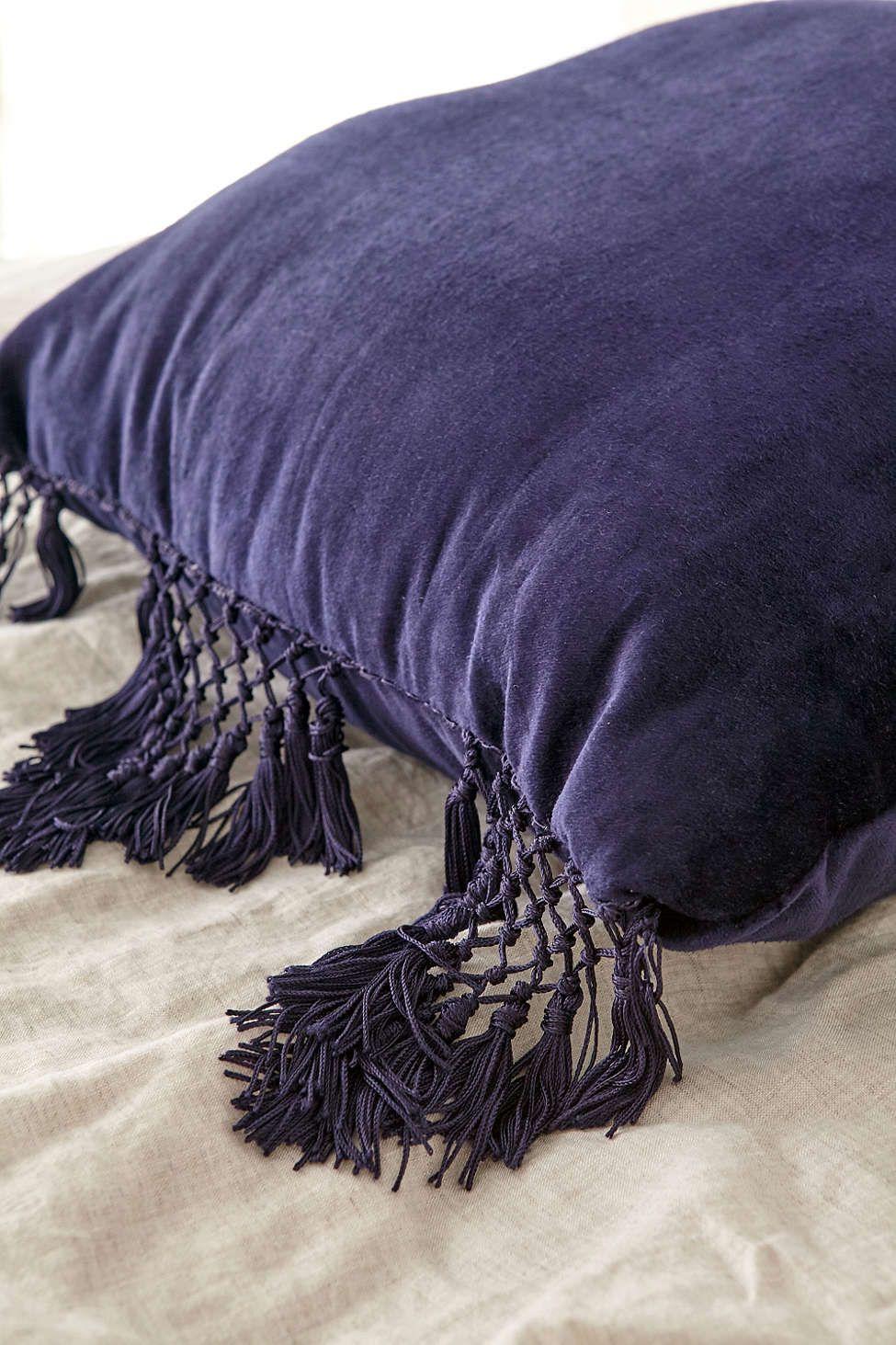 Magical Thinking Velvet Fringe Pillow Fringe pillows