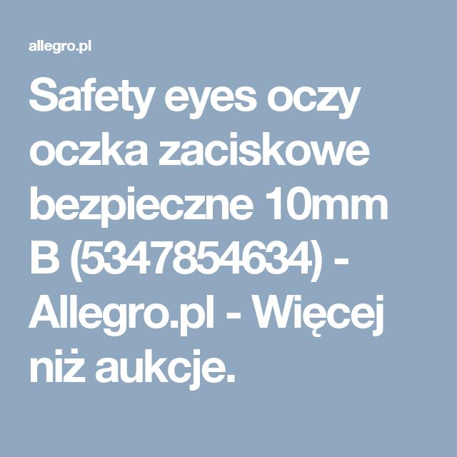 Safety Eyes Oczy Oczka Zaciskowe Bezpieczne 10mm B Mobile Boarding Pass