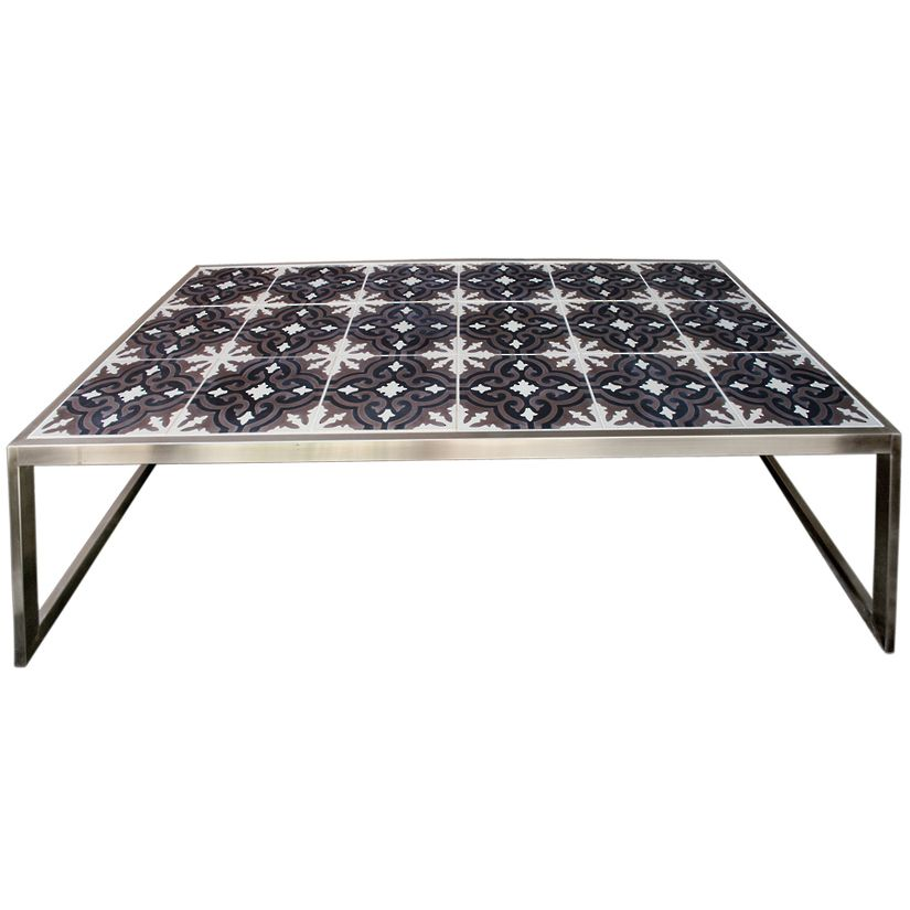 Marrakesh Outdoor Coffee Table l Eco Tile Top Coffee Tables
