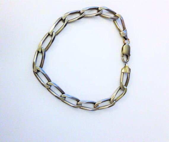 20% OFF Everything Mens Bracelet Sterling Italian Chain 9 inch Link Bracelet Italy 925 Chain Womens XXL Bracelet Sterling Silver Chain Heavy
