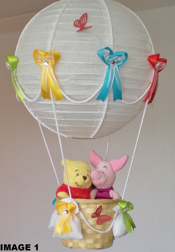 Hot Air Balloon Lamp-light Shade for Baby Nursery with PIGLET