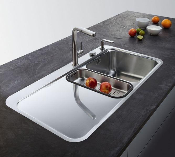 Lavelli per la cucina. Non solo acciaio | Lavelli e rubinetti ...