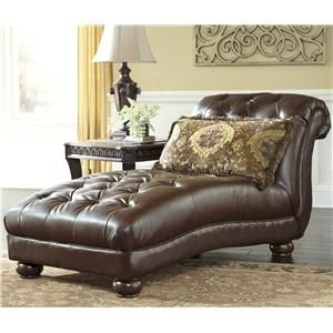 Signature Design By Ashley Beamerton Heights Traditional Tufted Chaise Marlo Furniture