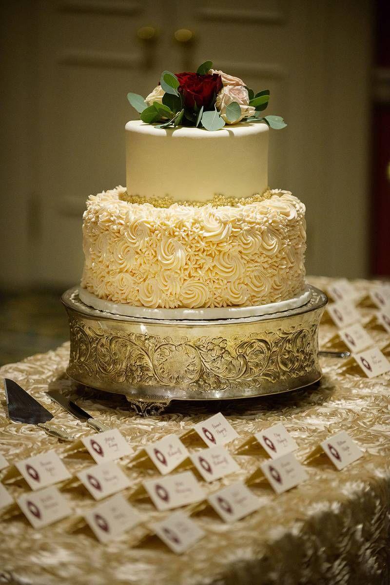 Red and Champagne Wedding Cake, via Calgary Bride | I Love Cake ...