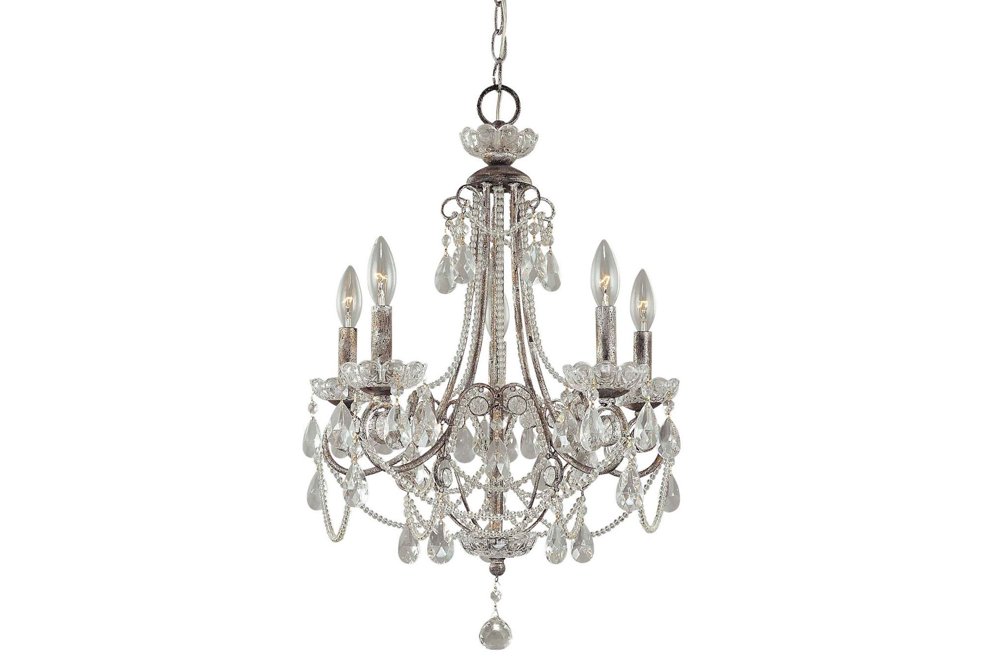 Princess sara 5 light mini chandelier silver layer your look princess sara 5 light mini chandelier silver layer your look one kings arubaitofo Images