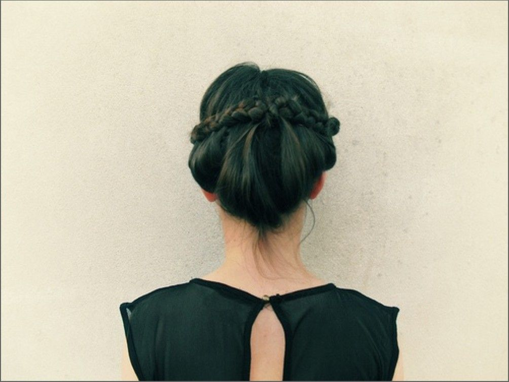 Use a braid for an up-do as a nice break from the top knot