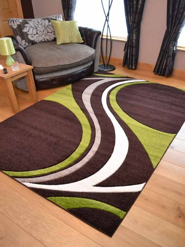 Super Verso Brown Green Area Rug Rugs