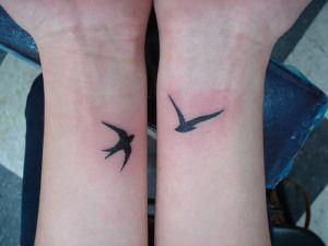 Wrist tattoo's - swallows