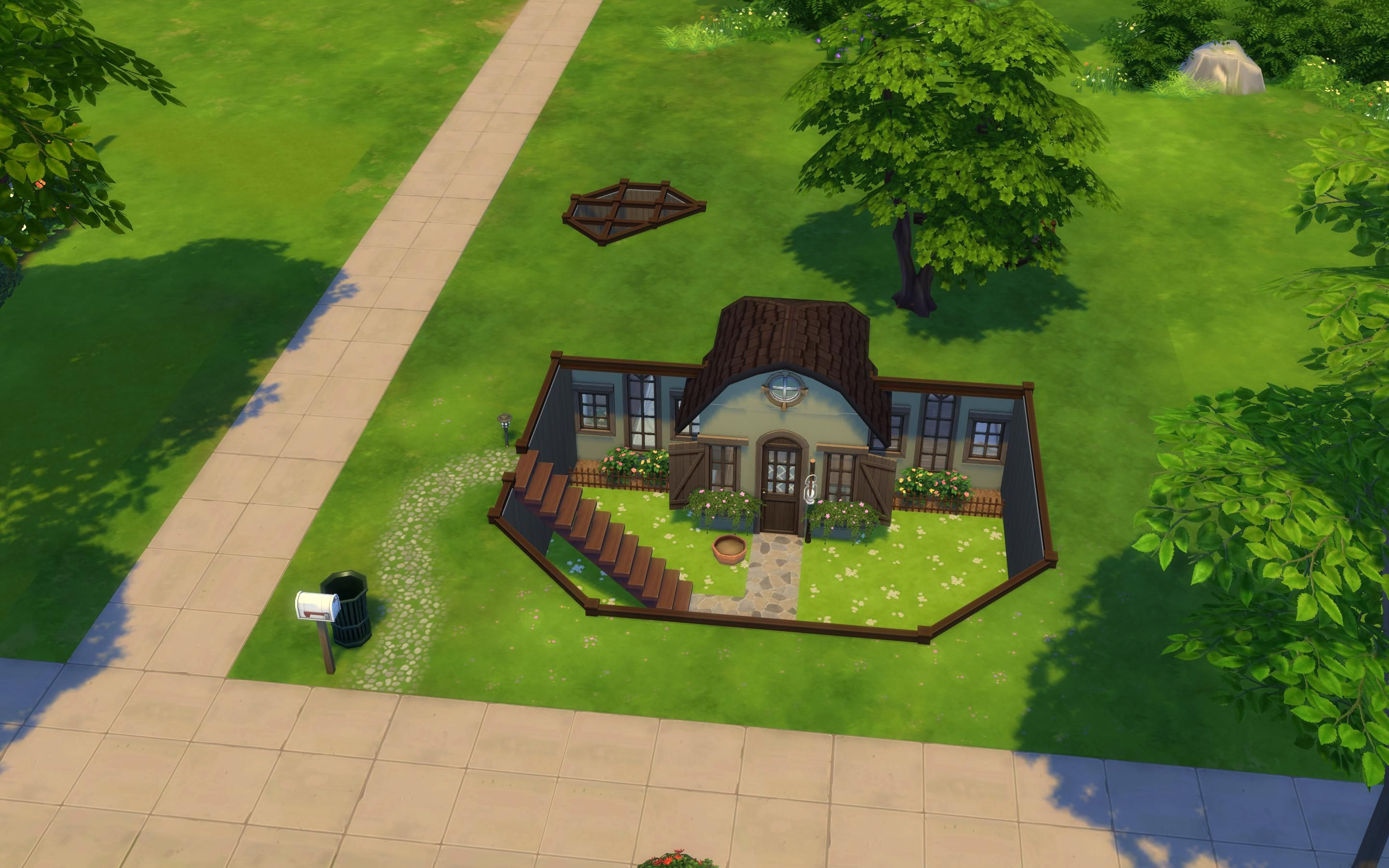 Hidden Cottage Starter Sims House Sims Building Sims