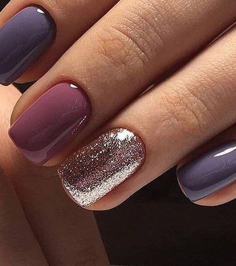 Nail art: declination of purple – #Art #de # declension #Nail #Violet