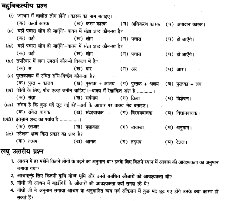 Ncert Solutions For Class 7th Hindi Chapter 19