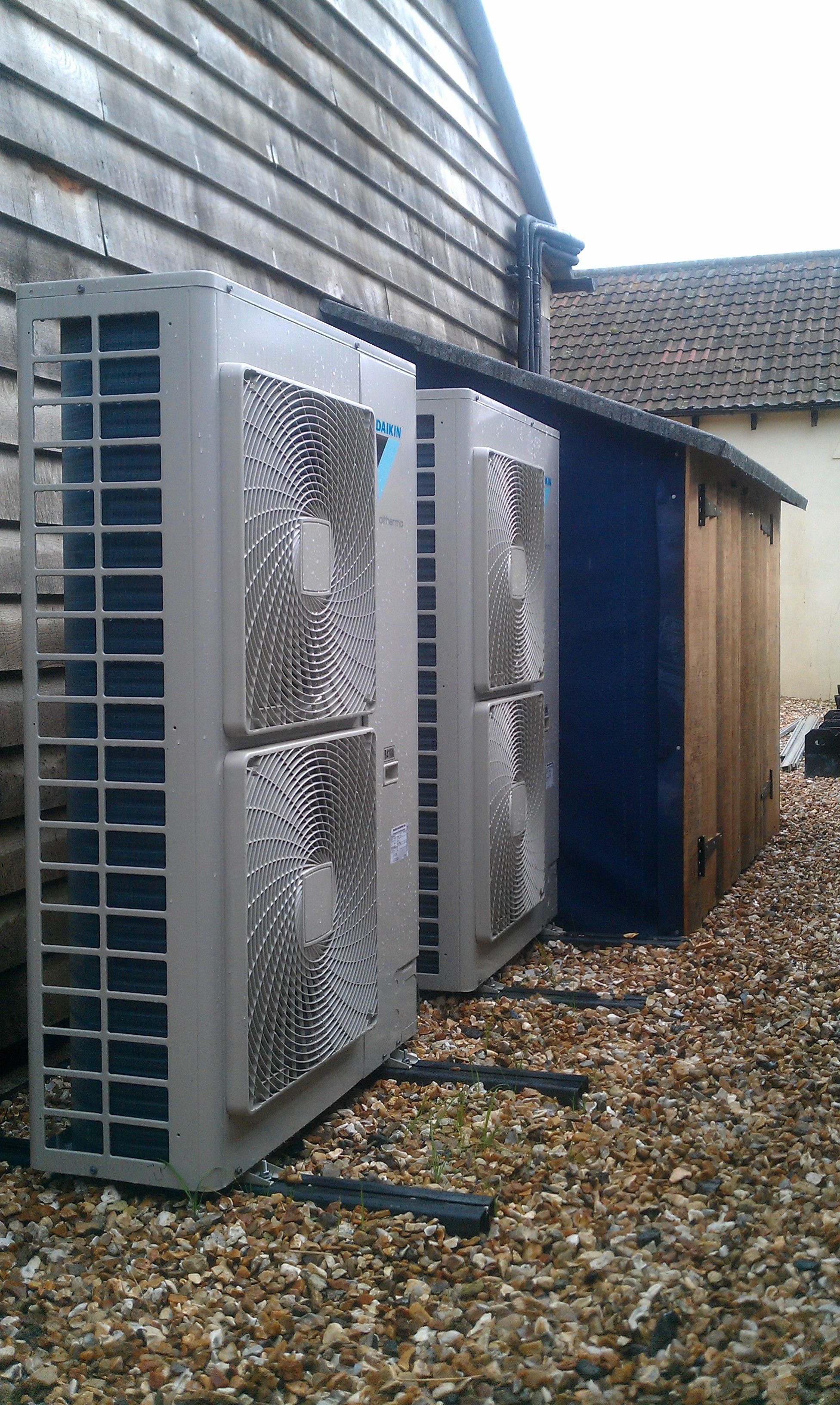 Commercial twin Air Source Heat Pump system in Somerset