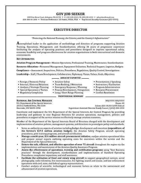 resume format government job