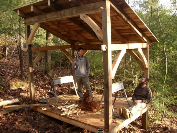 Timber Frame Woodshed In 2020 Wood Shed Kits Shed Kits