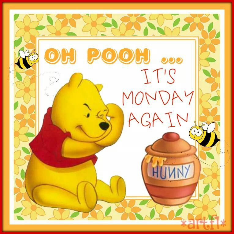Monday Pooh Good Morning Happy Monday Winnie The Pooh