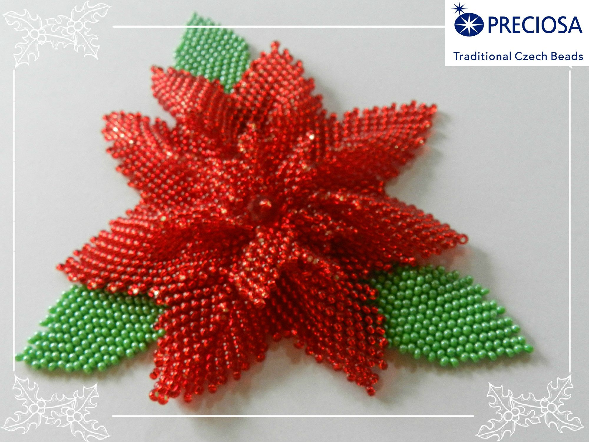 Stella Di Natale Con Perline.Stella Di Natale Christmas Flowers Beaded Brooch French