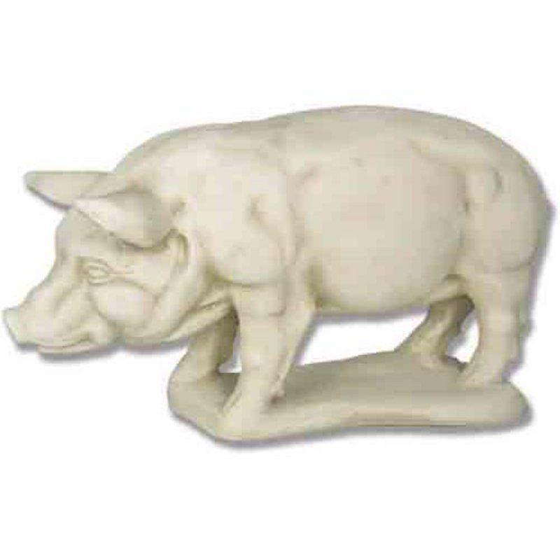 Solemn Swine Garden Statue   Pig Lovers, Unite! The Solemn Swine Garden  Statue Will Look Charming Rooting Around In The Garden Or Welcoming Guests  On The ...