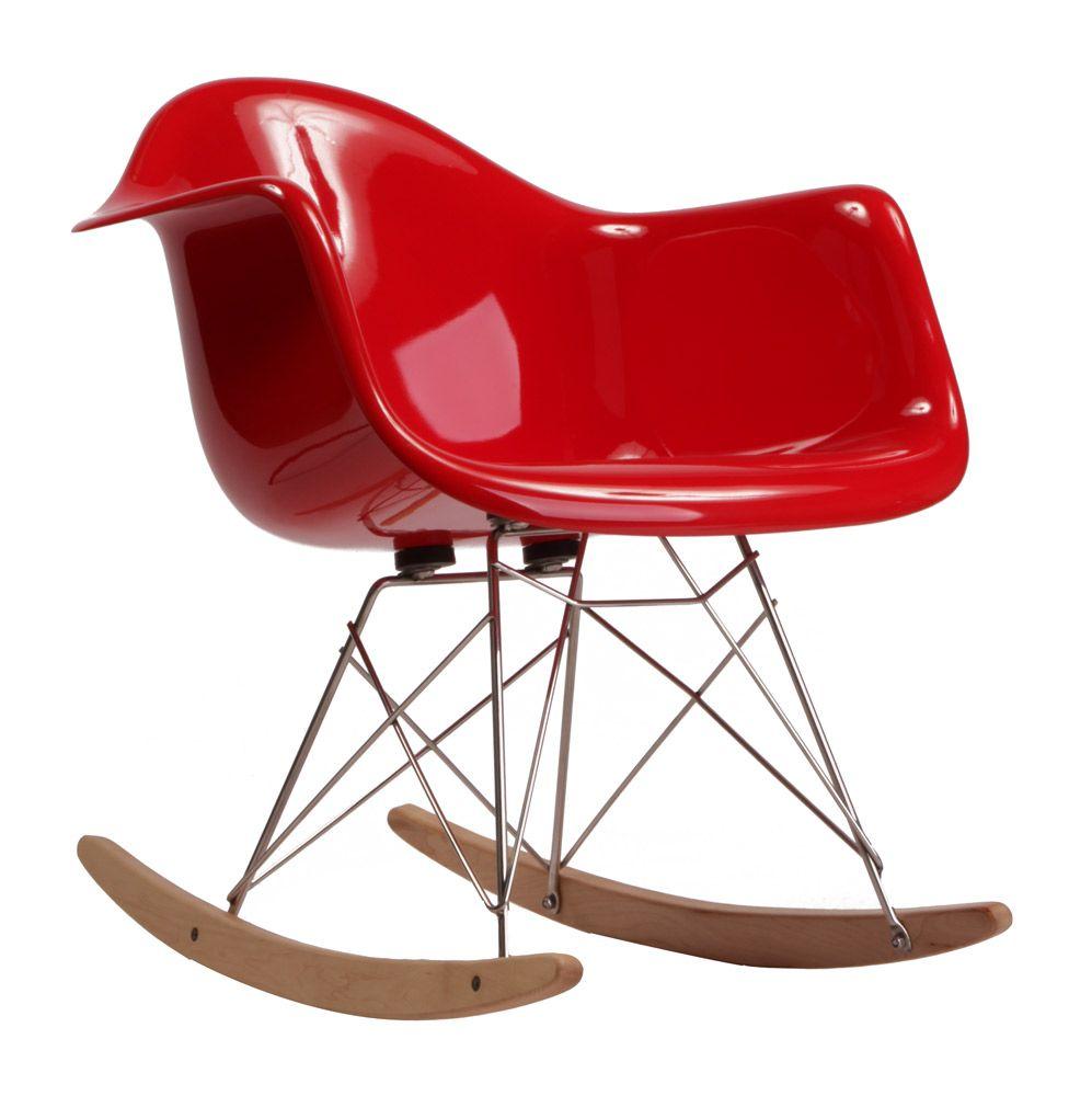 Charles Ray Eames Rar Rocking Chair 1948 La Chaise A Bascule Rar Dessinee En 1948 Est Composee D Une Coque En Rocking Chair Eames Rocking Chair Eames