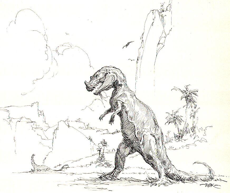 KRENKEL ~ T Rex Comic Art