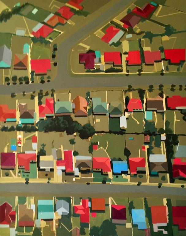 "Saatchi Art Artist: Toni Silber-Delerive; Acrylic 2012 Painting ""New Jersey Subdivision"""