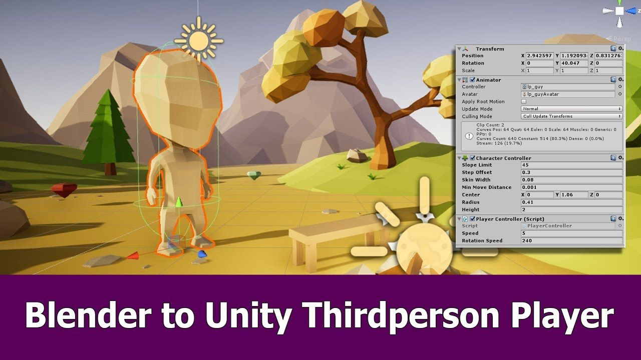 Unity Thirdperson Player for Blender Character | Unity 3D