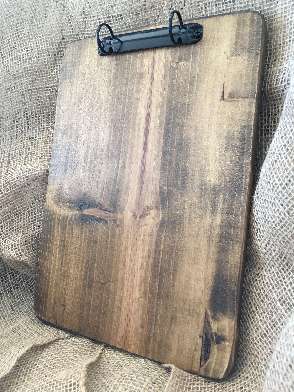 Restaurant Menu Board 2 Ring Binder Note Holder Woodblock Artwork Display Recipe Holder Large Clipboard Menu Holders Binder