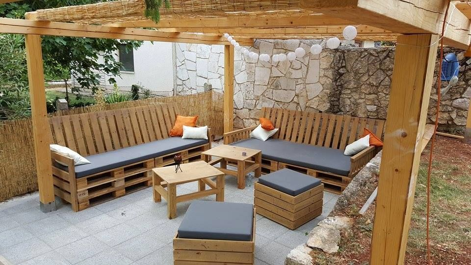 muebles de terraza con palets  Muebles de terraza  Pinterest  Terrazas con...