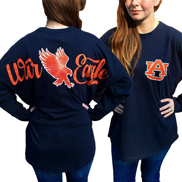 Auburn tigers war eagle women 39 s logo sweeper long sleeve for Auburn tigers football t shirts