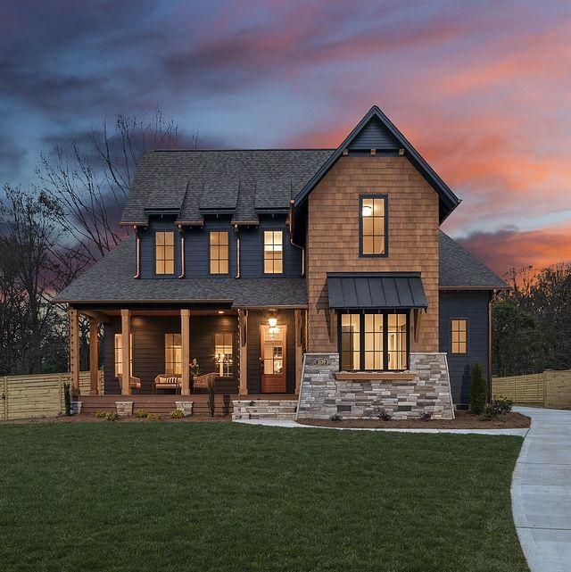 Dark Exterior Farmhouse – Home Bunch Interior Design Ideas