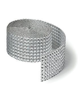 Faux Jewel- small roll 1 1/2'' x 1 1/3 yards for only $6.38
