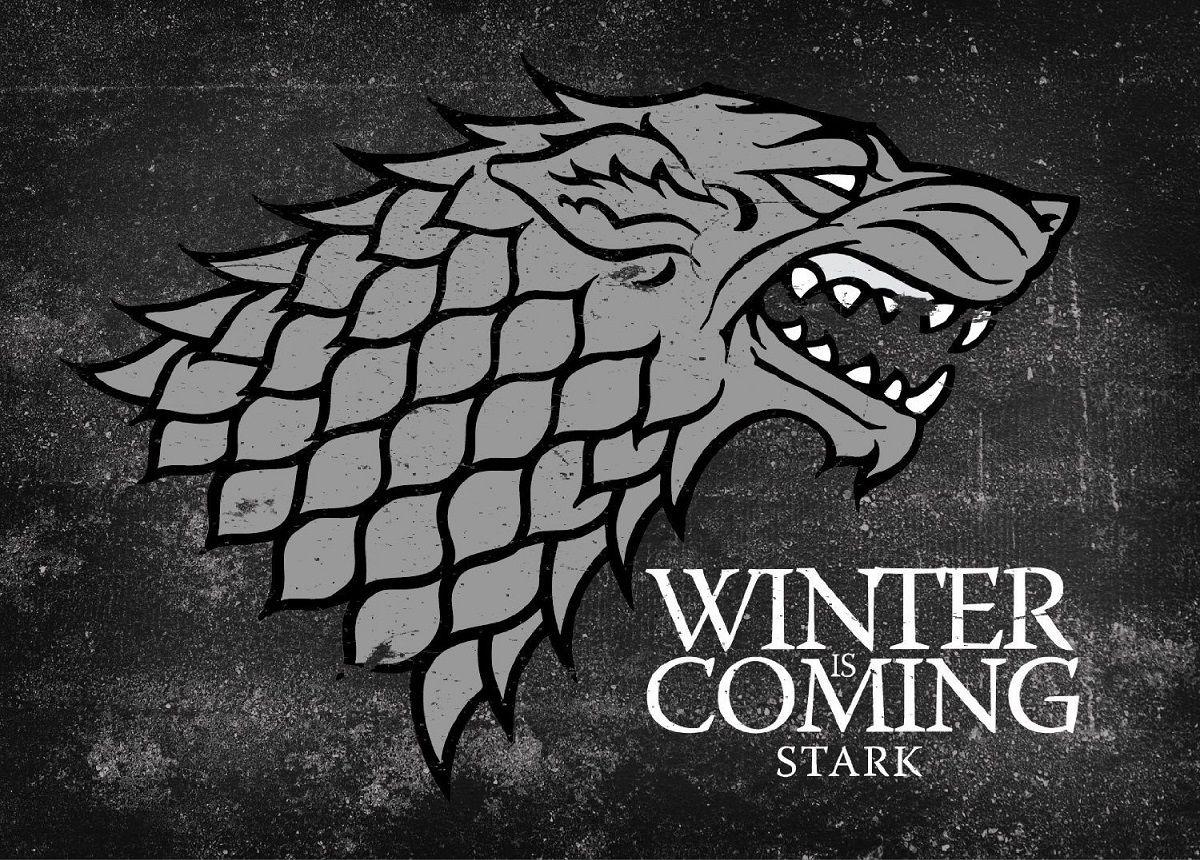 Game Of Thrones Winter Is Coming Stark Logo Giclee Stark Sigil Game Of Thrones Canvas Game Of Thrones Winter