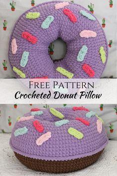 Comment faire un coussin en forme de beignet au crochet – Pink Plumeria Maui   – Crotchet things I wana try