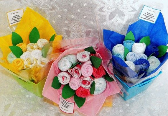 baby shower bouquets :)