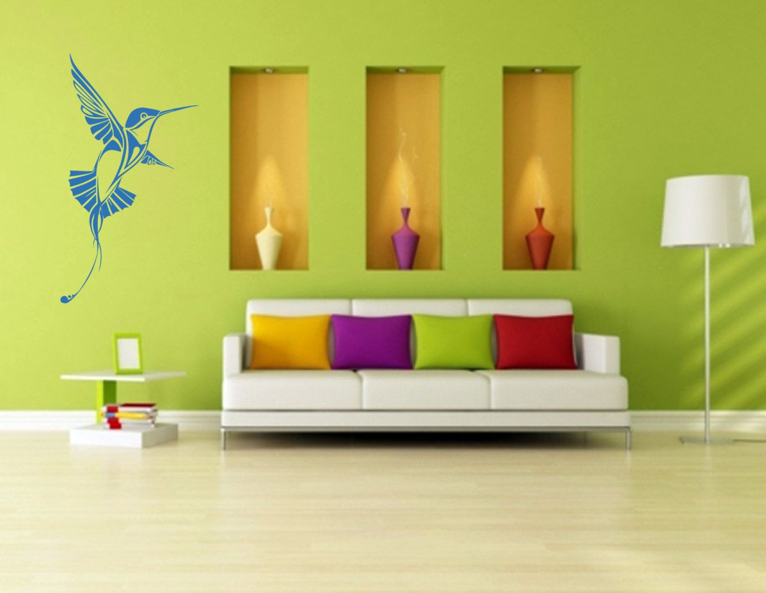 Hummingbird Wall Decal - Rain Forest - Tropical wall decal ...