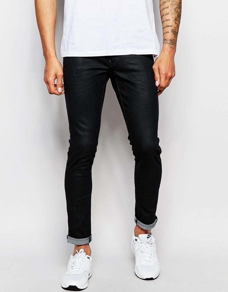 G Star Jeans Revend Super Slim Fit 3d Stretch Black At Asos Com Star Jeans G Star Raw Denim Jeans