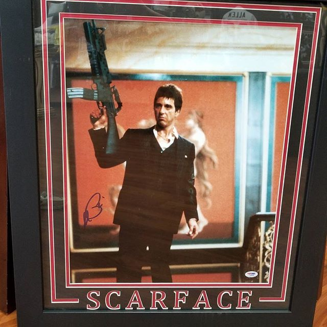 Say Hello To My Little Friend Tony Montana Scareface Autographed