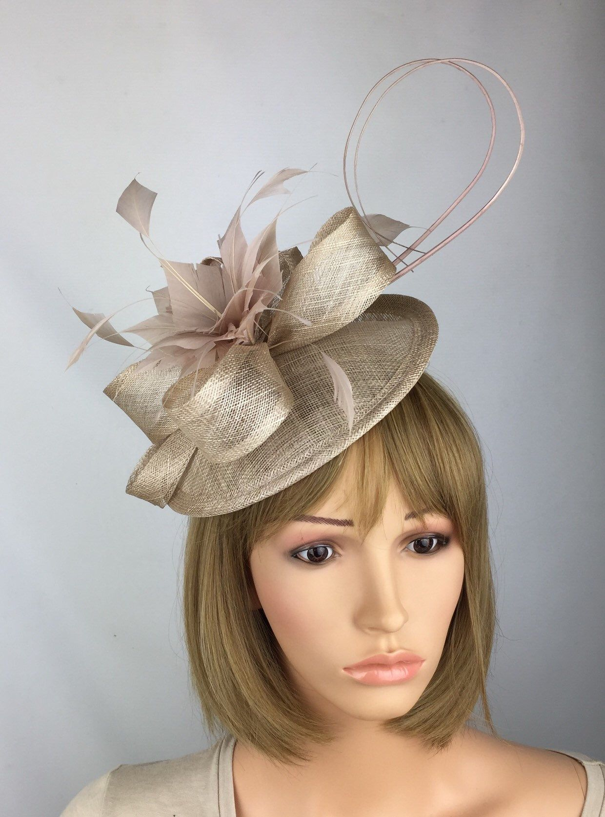 98ff745a Blush Nude Fascinator Wedding Hatinator Mother of the Bride Groom Ascot  Races Ladies Day Occasion Hat Prom in 2019 | Pretty Elegant 1 | Occasion  hats, ...