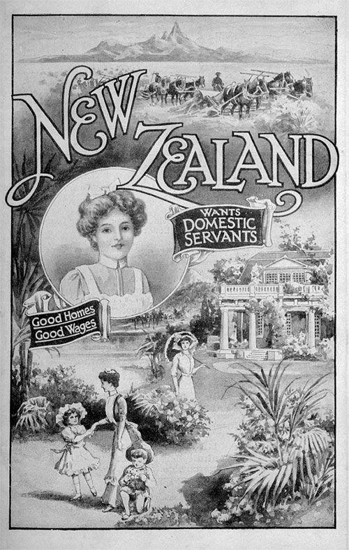 New Zealand Wants Domestic Servants Poster 1912 Source High