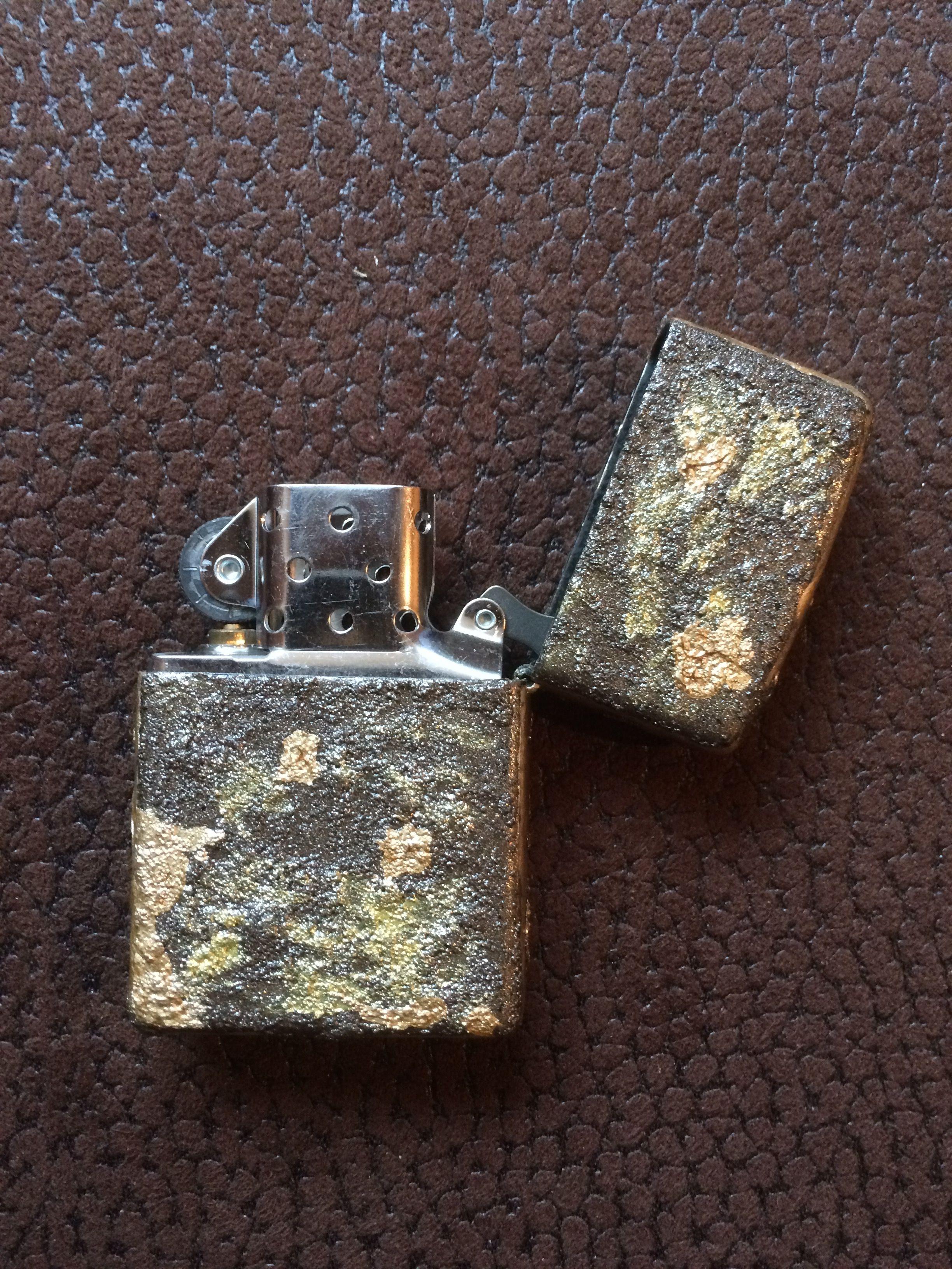 Original Zippo Black Crackle Custom Made Various Types Of Paint
