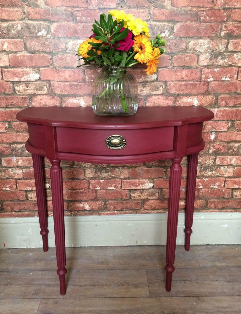 annie sloan burgundy vintage console table ebay
