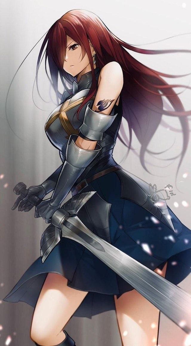 Beautiful Erza Drawing [Media] fairytail Fairy tail