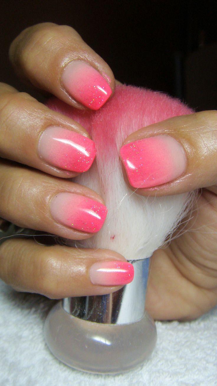 ombre-nagel-selber-gestalten-rosa-weiss-glitzerlack | Nageldesign ...