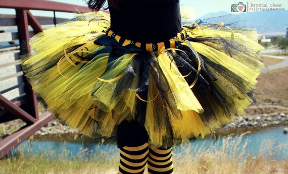 BUMBLE BEE COSTUMECustom Made Hand-Tied Ribbon Tutu by HAPPYBUBKIN