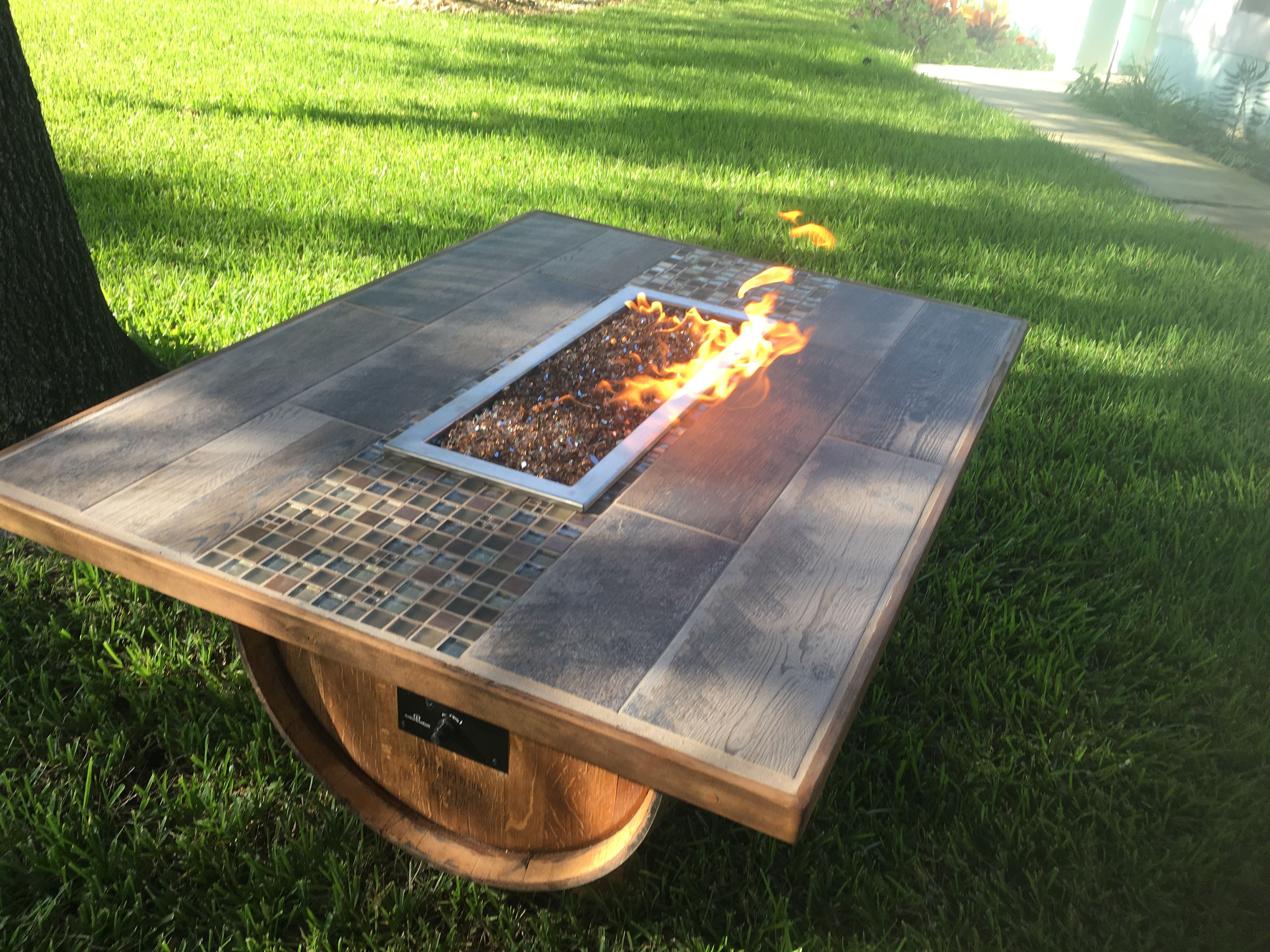 Wine Barrel Coffee Table Fire Pit A Wine of a Kind