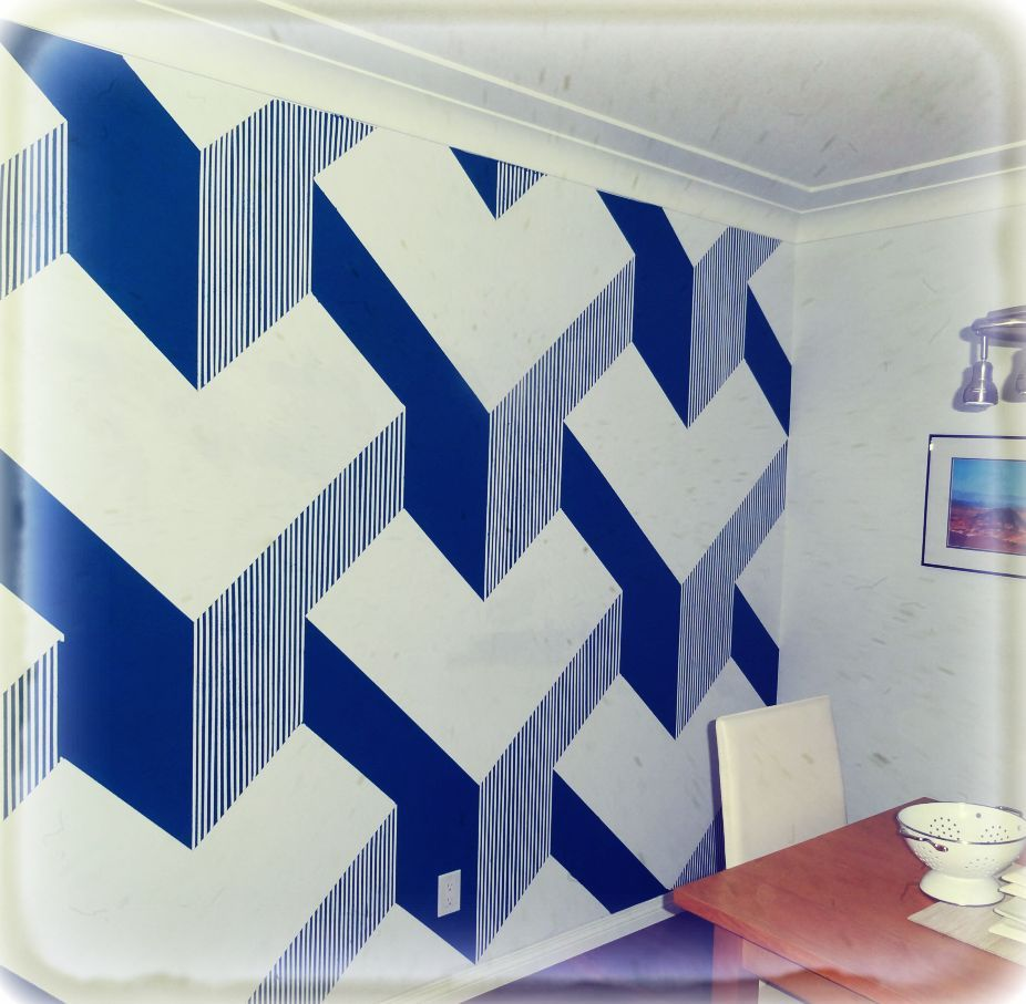 DIY 3D cube painted wall | Paint walls, Cube and Walls for 3d Wall Graphic Design  568zmd