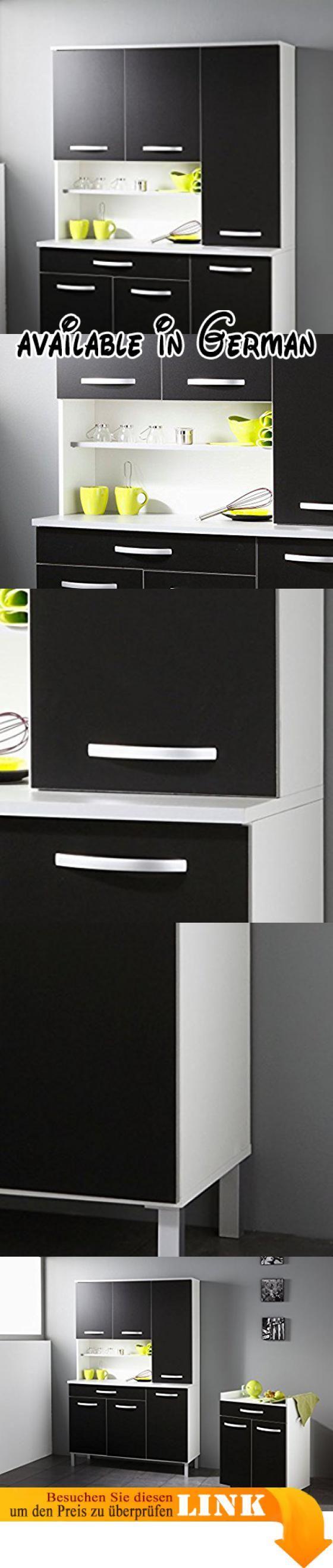 B00UWKHIMQ : Küchenschrank Seamus 12 120x181x44 cm weiß schwarz ...
